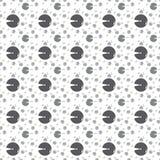 Naadloos cirkelpatroon Vector abstracte achtergrond royalty-vrije illustratie