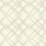 Naadloos cirkelpatroon Vector Zwart-wit Dots Background Royalty-vrije Stock Afbeeldingen