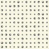 Naadloos cirkelpatroon Vector Zwart-wit Geometrische Achtergrond Stock Fotografie