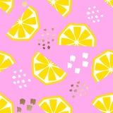 Naadloos citroen geometrisch patroon, vectorillustratie royalty-vrije illustratie