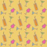 Naadloos cocktailpatroon Royalty-vrije Stock Afbeeldingen