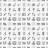 Naadloos Communicatie van de Krabbel Patroon Royalty-vrije Stock Afbeelding