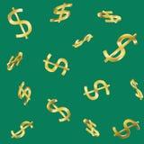 Naadloos contant geldpatroon Royalty-vrije Stock Fotografie
