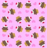 Naadloos cupcakepatroon Royalty-vrije Stock Foto