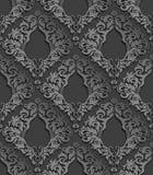Naadloos 3D Damastpatroon Stock Afbeelding