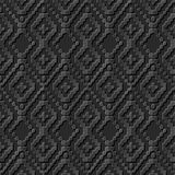 Naadloos 3D elegant donker document kunstpatroon 256 Dot Line Cross Check Royalty-vrije Stock Fotografie