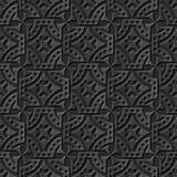 Naadloos 3D elegant donker document kunstpatroon 083 Rond Dot Spiral Royalty-vrije Stock Afbeeldingen