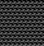 Naadloos 3d geometrisch patroon Optische illusie Zwarte en grijze geometrische achtergrond en textuur vector illustratie