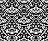 Naadloos damskpatroon van de leeuw Stock Illustratie