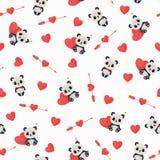 Naadloos de Dagpatroon van Heilige Valentine Royalty-vrije Stock Foto's