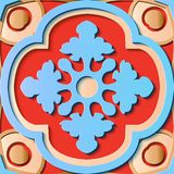 Naadloos de decoratie retro patroon van het hulpbeeldhouwwerk om kromme c vector illustratie
