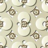 Naadloos de decoratie retro patroon van het hulpbeeldhouwwerk om kromme c royalty-vrije illustratie