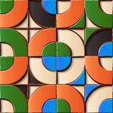 Naadloos de decoratie retro patroon van het hulpbeeldhouwwerk om kromme c stock illustratie