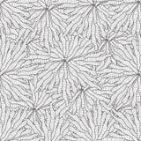 Naadloos de golfhand getrokken patroon van het zentanglezeewier, golvenachtergrond die foutloos betegelen Stock Foto