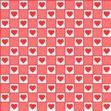 Naadloos de hartenpatroon van de valentijnskaart Vector illustratie Stock Foto