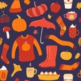 Naadloos de herfstpatroon vector illustratie