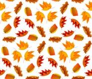 Naadloos de herfstpatroon royalty-vrije stock afbeeldingen