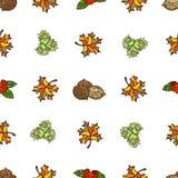 Naadloos de herfstpatroon stock illustratie