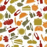 Naadloos de herfstpatroon van de dankzeggingskleur Royalty-vrije Stock Afbeelding