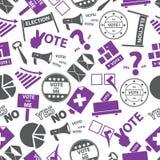 Naadloos de kleurenpatroon van verkiezings eenvoudig pictogrammen Royalty-vrije Stock Afbeeldingen