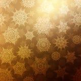Naadloos de textuurpatroon van Bronskerstmis Eps 10 Royalty-vrije Stock Fotografie