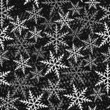 Naadloos de winterpatroon Stock Afbeeldingen