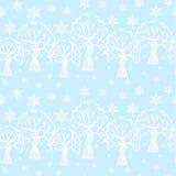 Naadloos de winterpatroon vector illustratie