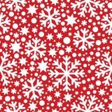 Naadloos de winterpatroon met sneeuwvlokken Royalty-vrije Stock Afbeeldingen