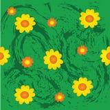 Naadloos de zomerpatroon van Grunge, Vector Illustratie