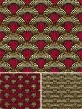 Naadloos decoratief gouden patroon Royalty-vrije Stock Foto's