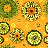 Naadloos Decoratief Patroon Stock Afbeeldingen