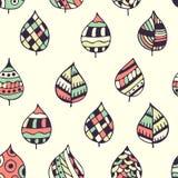 Naadloos decoratief patroon met bladeren Royalty-vrije Stock Afbeelding