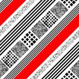 Naadloos Diagonaal Streep, Vierkant en Dots Pattern Stock Foto