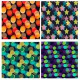 Naadloos die patroon met bokeh wordt geplaatst Stock Fotografie