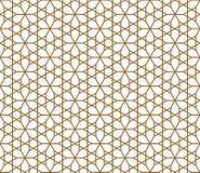 Naadloos die patroon op Japans geometrisch ornament wordt gebaseerd Gouden rassenbarrières stock illustratie