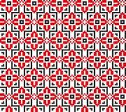 Naadloos die patroon op Oekraïens borduurwerk wordt gebaseerd Royalty-vrije Stock Fotografie