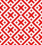 Naadloos die patroon op Russisch volksornament wordt gebaseerd Stock Foto's