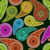 Naadloos die patroon op traditionele Aziaat wordt gebaseerd Royalty-vrije Stock Afbeelding
