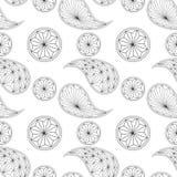 Naadloos die patroon op traditionele Aziaat wordt gebaseerd Stock Foto's