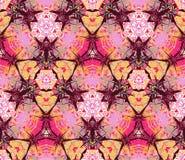 Naadloos die patroon uit kleuren abstracte die elementen wordt samengesteld op purpere achtergrond worden gevestigd Royalty-vrije Stock Afbeeldingen