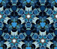 Naadloos die patroon uit kleuren abstracte die elementen wordt samengesteld op witte achtergrond worden gevestigd Stock Fotografie