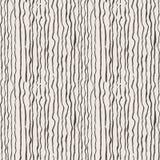 Naadloos die patroon van lijnen door borstel en inkt worden getrokken Stock Foto's