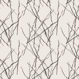 Naadloos die patroon van lijnen door borstel en inkt worden getrokken Royalty-vrije Stock Afbeelding