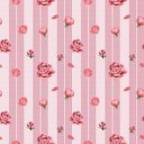 Naadloos die patroon, van roze bloeiende rozen, hand wordt gemaakt getrokken botanische illustratie, op roze achtergrond vector illustratie