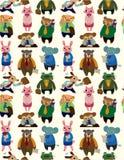 Naadloos dierlijk beambtepatroon Royalty-vrije Stock Afbeelding