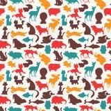 Naadloos dierlijk patroon Royalty-vrije Stock Fotografie