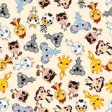 Naadloos dierlijk patroon Stock Afbeelding