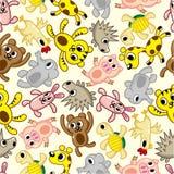 Naadloos dierlijk patroon stock illustratie
