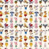 Naadloos dierlijk patroon Stock Afbeeldingen