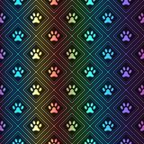Naadloos dierlijk spectrumpatroon van pootvoetafdruk Royalty-vrije Stock Fotografie